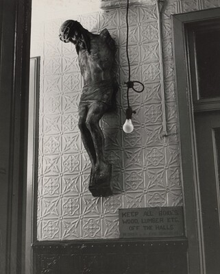 Crucifix with Lightbulb (Outside Theodore Fried's Studio in Chelsea)