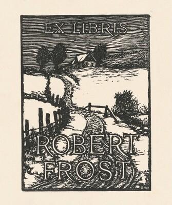Robert Frost Book Plate
