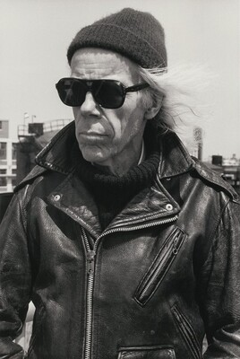 Minor White in Leather Jacket