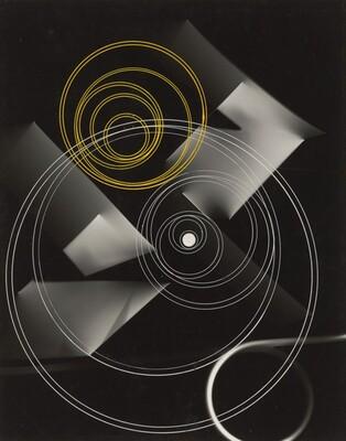 Photogram (Yellow and White Circles)