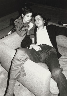 Bianca Jagger and Unidentified Man
