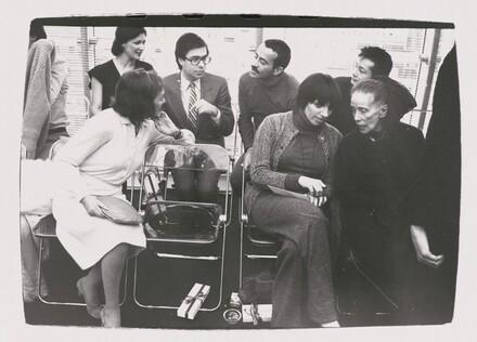 Liza Minnelli, Martha Graham, Bob Colacello, Victor Hugo, Benjamin Liu, Paulette Goddard and Unidentified Woman