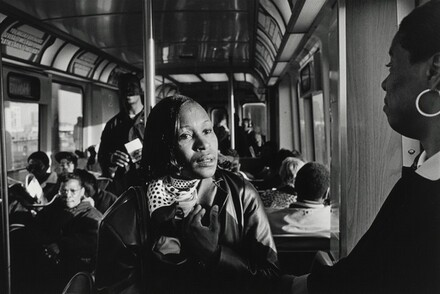 7:00 A.M.: Margie rides the train to her job-training class in downtown Chicago. Accompanying her is Cherilyn, a resident at the Olive Branch who recently found a job as a home-care worker.