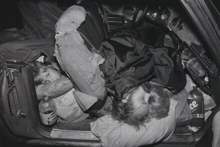 The Damm family living in their car, Los Angeles