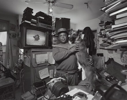 Dannielle Watson with his dogs, Angel and Baby, Times Square residence, New York City