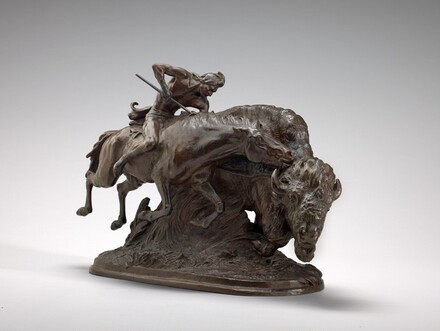 Indian Pursuing Buffalo