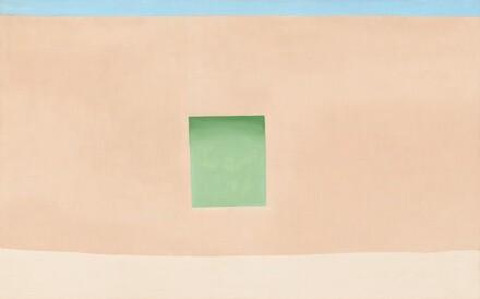 Wall with Green Door