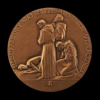 Saint Francis of Assisi at Prayer [obverse]