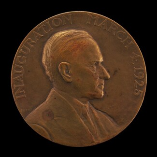 Calvin Coolidge Inaugural Medal [obverse]