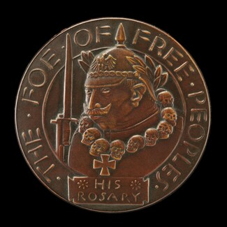 Kultur in Belgium Medal: The Foe of Free Peoples [obverse]