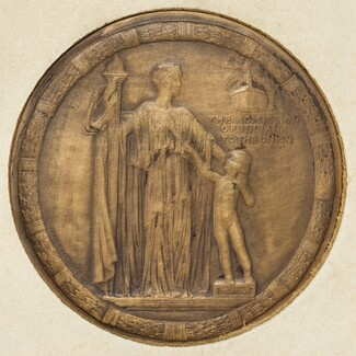 The Indiana Medal (The Admission of Indiana to the Union) [obverse]
