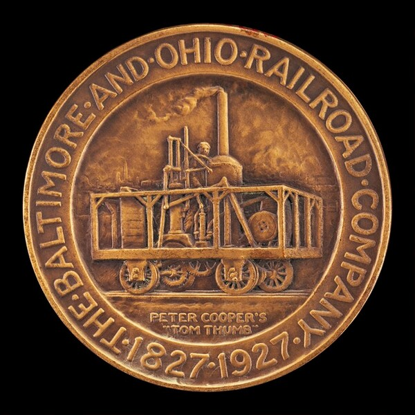 Baltimore and Ohio Railroad Centennial Medal [obverse]