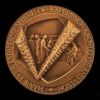 Apollo 11 Moon Landing Medal [obverse]