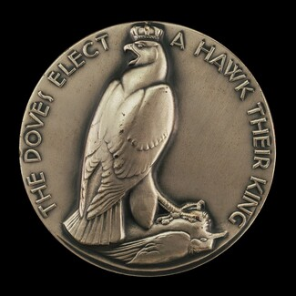 Aesop's Fables: The Kite, Hawk, and Pigeons [obverse]