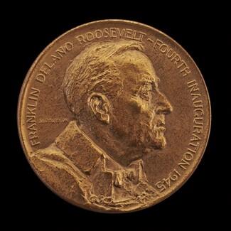 Franklin Delano Roosevelt Fourth Inaugural Medal [obverse]