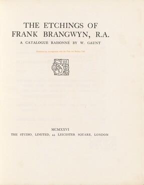 The Etchings of Frank Brangwyn, R.A.