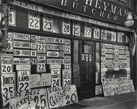 Jacob Heymann: Butcher Shop, 345 Sixth Avenue