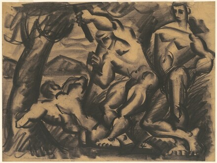 Nude Figures in Landscape