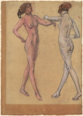 Two Views of a Dancing Nude