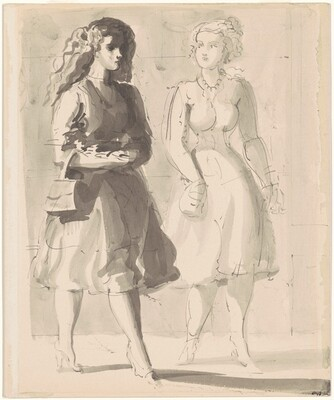 Two Woman Walking II