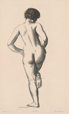 Nude Study, Girl Standing on One Foot