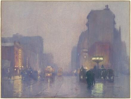 Broadway on a Rainy Evening