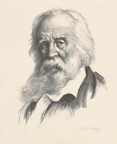 Samuel J. Woolf, Associated American Artists, Walt Whitman, 1945