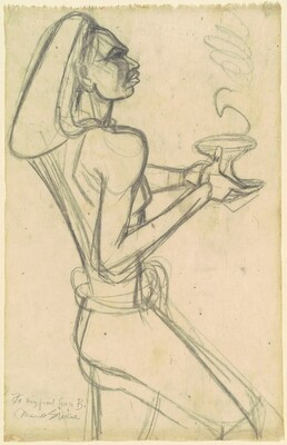 Male Balinese Dancer with Lamp (study for Dance of the Elements)