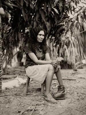 Dona Nika in her Garden, Grande Sertão Veredas National Park, Brazil