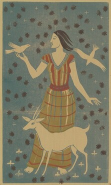 Woman with Goat and Doves