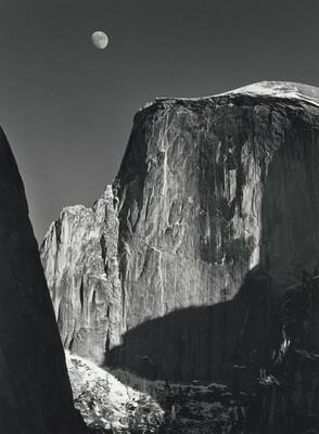 Moon and Half Dome, Yosemite Valley, California
