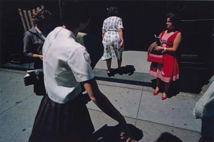Street Scene: Woman in Red, Providence