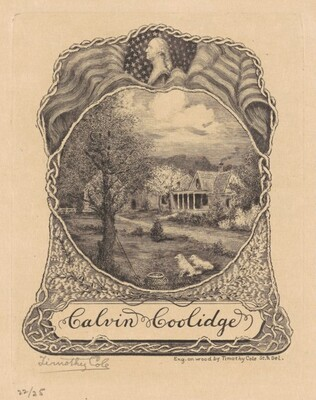 Bookplate for Calvin Coolidge