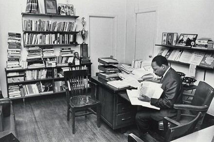Dr. King in his office at the Southern Christian Leadership Conference Headquarters in Atlanta