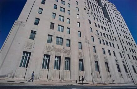 Perspective Distortion: Building Facade and Blue Sky, Atlanta
