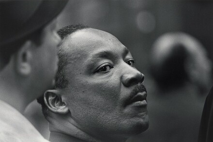 Dr. Martin Luther King, Jr. in the crowd at the United Nations