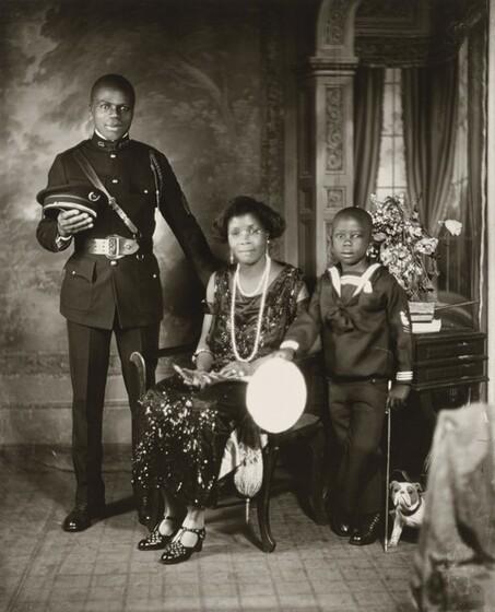 James Van Der Zee, Garveyite Family, Harlem, 1924, printed 1974