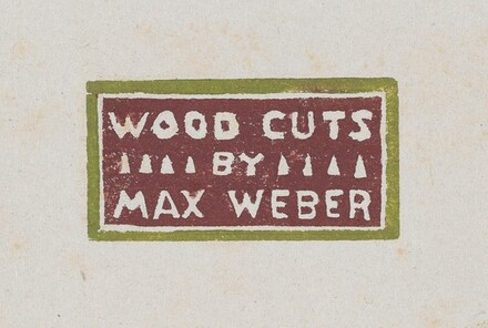 Woodcuts by Max Weber
