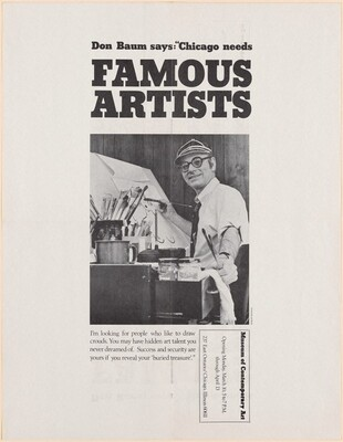 Don Baum Says Chicago Needs Famous Artists