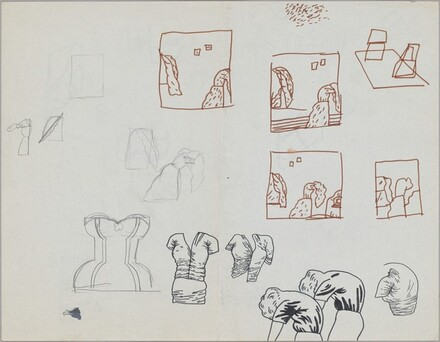 Untitled (hunched women and other studies) [recto]