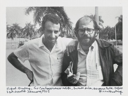 Miguel Grinberg, Eco Contemporáneo editor, Buenos Aires, Havana Cuba before I got deported January 1965