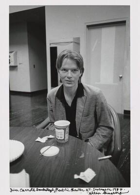 Jim Carroll backstage, Public theater N.Y. September 1984