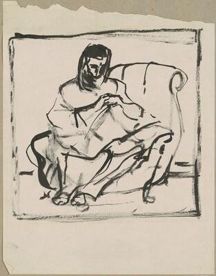 Elizabeth Seated Sewing