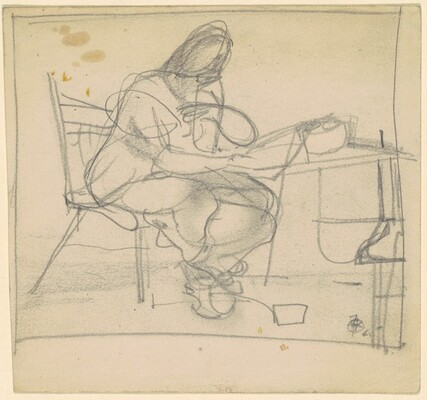 Woman Seated at a Desk
