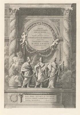 Descrizione delle feste celebrate in Parma l'anno MDCCLXIX per le auguste nozze di Sua Altezza Reale L'Infante Don Ferdinando colla Reale l'Archiduchessa Maria Amalia.