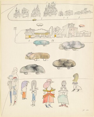 Untitled (Pedestrians and Bread Cars)