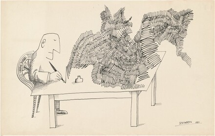 Untitled (Man at a Table, Drawing)
