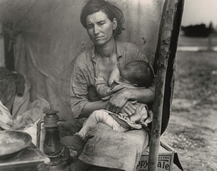Migrant agricultural worker's family, Nipomo, California