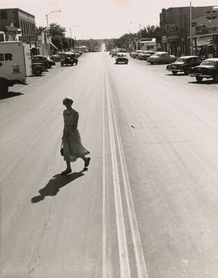 St. George Highway and Brigham Young's Granddaughter, St. George, Utah, 1953