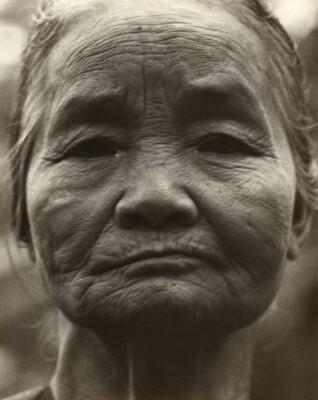 Portrait of an Elderly Indonesian Woman